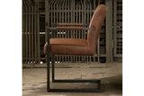 ferro,armstoel,armchair,eetkamerstoel,armleuning,microvezel,stof,tower,living,kubus,wonen,culemborg,cognac,vintage,frame,metaal