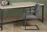 ferro,armstoel,armchair,eetkamerstoel,armleuning,microvezel,stof,tower,living,kubus,wonen,culemborg,antraciet,vintage,frame,met