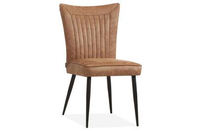 eetkamerstoel,gaga,stof,softyl,pebble,cognac,steel,stoel,stoelen,eetkamerstoelen,maxfurn,kubus,wonen,culemborg