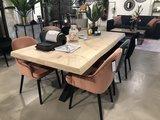 tafel,eetkamer,eetkamertafel,uniek,spinpoot,boomstam,eikenblad,eiken,blad,kubus,wonen,culemborg,eleonora