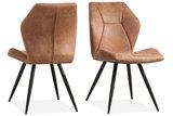 eetkamerstoel,tesla,eetkamerstoelen,stoel,stoelen,softyl,cognac,pebble,steel,kubus,wonen,culemborg