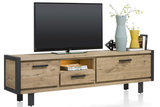 brooklyn 37138 lowboard 210 cm tv dressoir tv kast eiken railway bruin kubus wonen culemborg happy at home