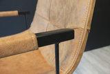 condor eetkamerstoel stof softyl armleuning cognac antraciet olive maxfurn kubus wonen culemborg