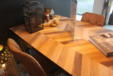 camapari massief eiken visgraat patroon motief mixwood oak old light eiken kubus wonen culemborg