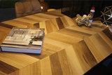 massief eiken campari tafel visgraat patroon motief kubus wonen culemborg