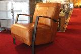 fauteuil, como, kubus, wonen, leder, kleur, cognac, metalen, frame, fauteuil, kopen, buffelleer,