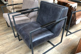 fauteuil bibi kubus wonen leder africa het anker meubelen fauteuils