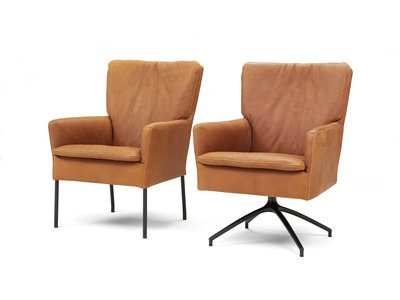 Hugo,hugostoel,hugofauteuil,stoel,fauteuil,kruispoot,draaipoot,leder,stof,haveco,zitten,kubus,wonen,kubuswonenculemborg,kubuswo