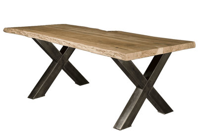tafel,eetkamer,eetkamertafel,uniek,spinpoot,boomstam,eikenblad,eiken,blad,kubus,wonen,culemborg,tower,living