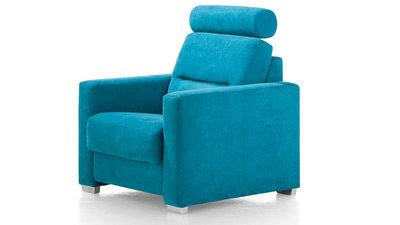 Sydney fauteuil opruiming toonzaal model van Happy@Home in stof kleur petrol bij Kubus Wonen in Culemborg