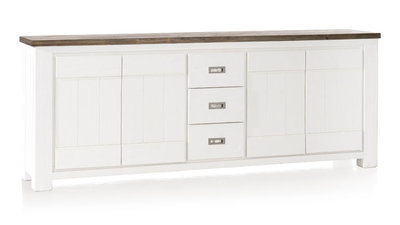 Deaumain 220cm dressoir 24690 pampas grey wit gelakt happy@home
