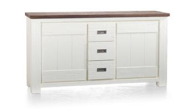 Deaumain 160 cm dressoir 24723 pampas grey wit gelakt happy@home