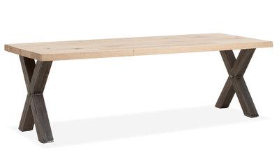 woodflex,massief,eiken,eetkamertafel,eettafel,tafel,tafels,woodflex,eetkamertafels,massief,eiken,cbm,kleuren,kleur,rvs,poten,me