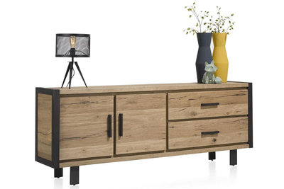 dressoir 210 cm brooklyn 37136 eiken railway bruin happy at home kubus wonen culemborg