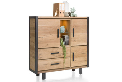 brooklyn highboard 37135 eiken railway bruin happy at home kubus wonen culemborg