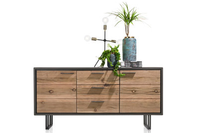 cladio, dressoir, 180 cm, kikarhout,  38796, VUB, happy at home, kubus wonen, cladio dressoirs, cladio kast, kasten