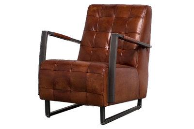 Rock fauteuil industrieel leer scherpste prijs kubus wonen kubus