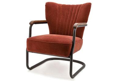 fauteuil,milu,stof,velours,kleur,brique,eleonora,fauteuils,kubus,wonen,culemborg,meubelstad,fauteuils,bijzetfauteuil,stoel,eleo