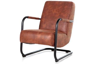 Cherokee,cognac,armleuning,fauteuil,pien,kubus,wonen,culemborg,eleonora
