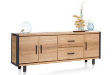 brooklyn dressoir 37154 railway bruin 240 cm happy at home kubus wonen culemborg