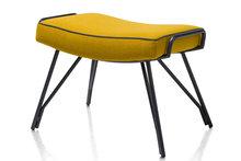 bruce hocker poef stof lana happy at home oker geel kubus wonen culemborg meubelstad fauteuils lounge fauteuil bruce voetenbank