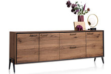 39816,dressoir,janella,240,cm,breedmeiken,noten,choco,brown,happy,at,home,kubus,wonen,dressoirs,culemborg,meubelstad,pintrest,