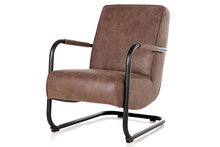 Pien,fauteuil,stoel,cherokee,bruin,armleuning,metaal,eleonora,kubus,wonen,culemborg